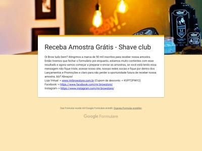 Mr.brow Shave Club – Pe?a J? A Sua!