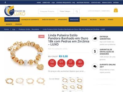 Brinde Grátis- Pulseira Estilo Pandora Banhado Em Ouro. Pe?a J?!