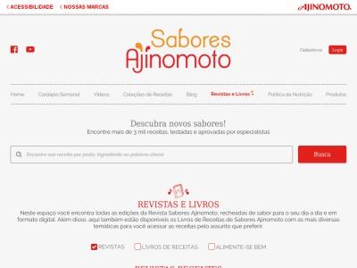 "Livro De Receitas ""sabores Ajinomoto"""
