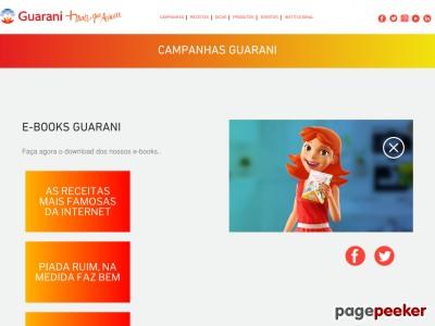 Grátis: Livro De Receitas Guarani: Peça O Seu!
