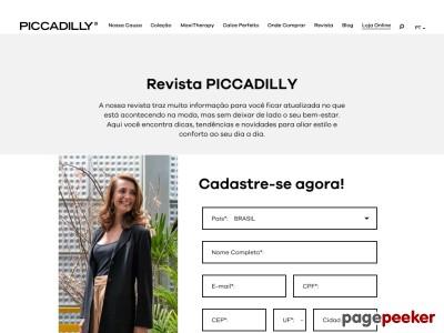 Receba Grátis A Revista Piccadilly!
