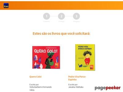 Coleção De Livros Itaú ; Peça A Sua!