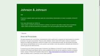 Receba Grátis Produtos Da Johnson