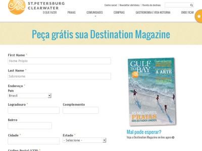 um Exemplar Da Revista Destination !