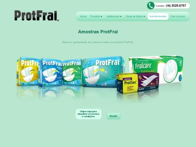 amostra Grátis: Fraldas Para Adultos Protfral!