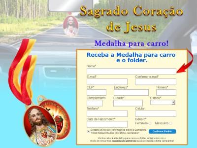 Grátis Medalha Sagrado Cora??o De Jesus Para Carro