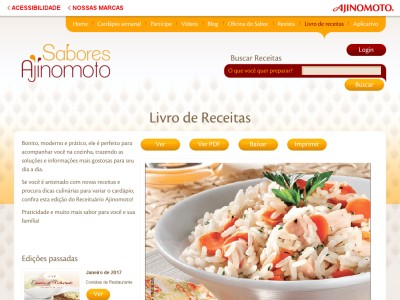 """baixe Grátis: Livro De Receitas """"cozinha Sob Medida"""" Da Ajinomoto"""