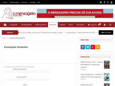 amostra Grátis Da Revista O Mensageiro De Santo Antônio