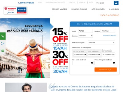 Mondial Travel - 15% Off Na