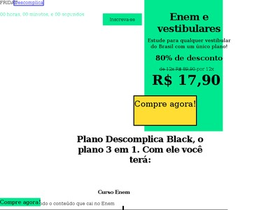 Descomplica - 83% Off Na Mensalidade Do Enem Power