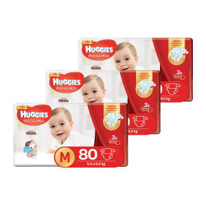 Kit De Fraldas Huggies Hiper Supreme Care M - 240 Unidades - R$139