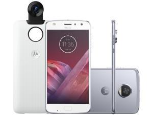 Smartphone Motorola Moto Z2 Play 360 Câmera - Edition 64gb Azul Topázio Dual Chip Câm. 12mp - R$1249