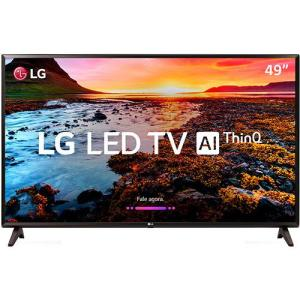 "Smart Tv Led 49"" Lg 49lk5700 Full Hd Com Conversor Digital 2 Hdmi 1 Usb Wi-fi Webos 4.0 Quick Access 60hz - Preta 