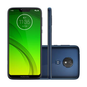 "Smartphone Motorola Moto G7 Power Azul Navy, Dual Chip, Tela 6,2"", 4g+wi-fi, Android Pie, 12mp, 32gb | R$1.070"