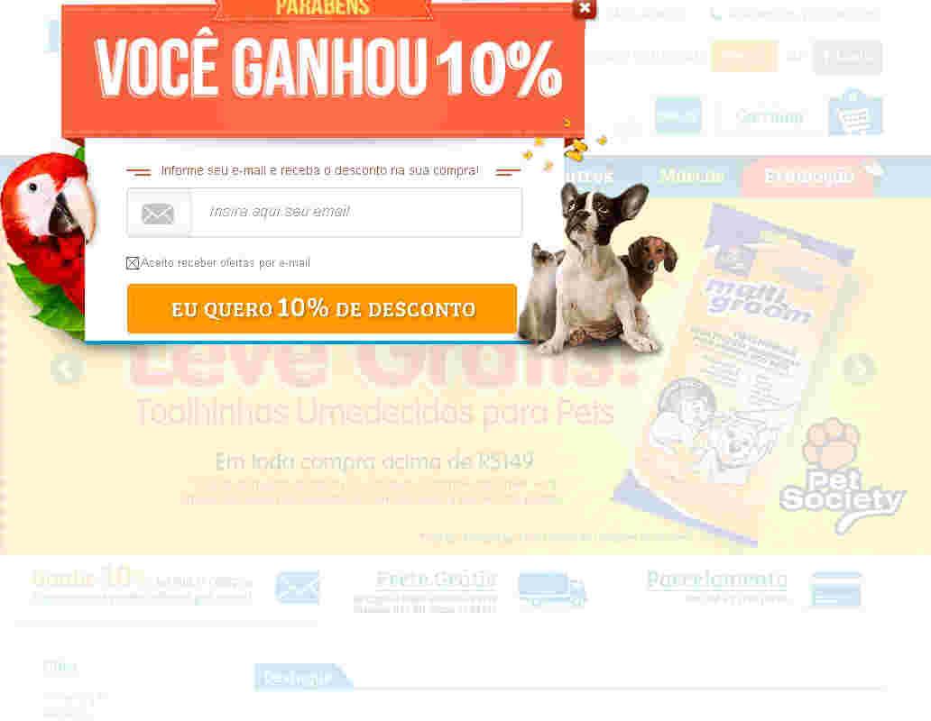 Pet Na Net - Cupom 15% Off Acima De R$129 + 5% No Boleto
