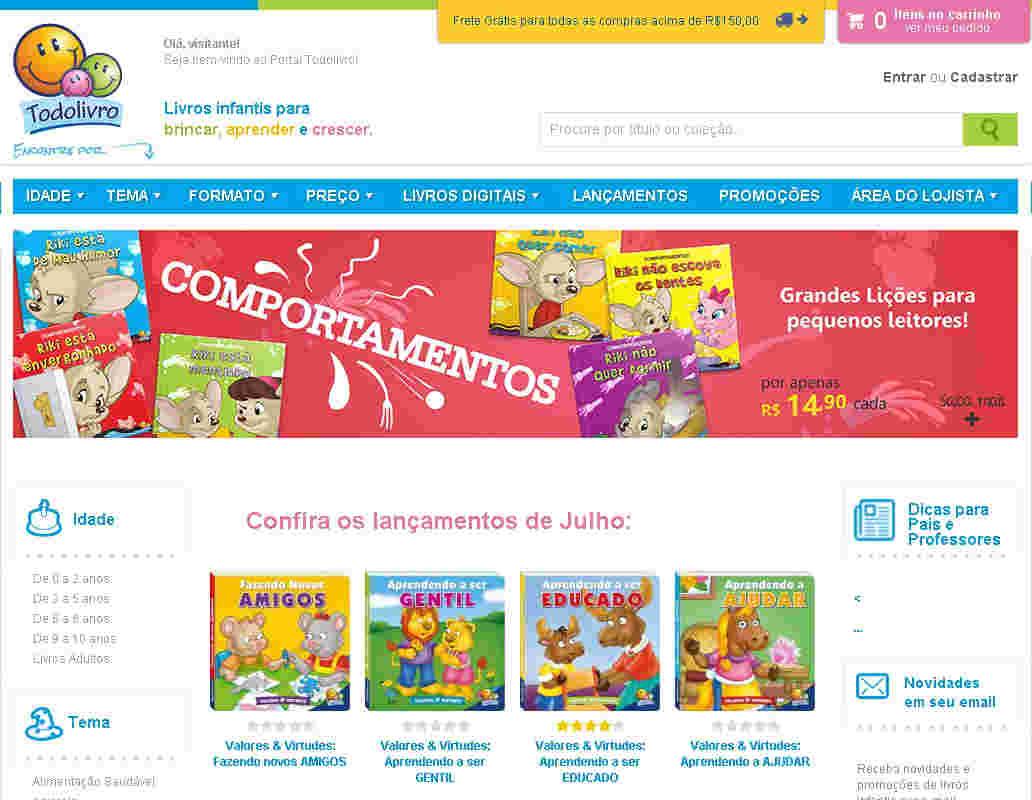 Todolivro - 10% De Desconto Em Livros Infantis Para Brincar