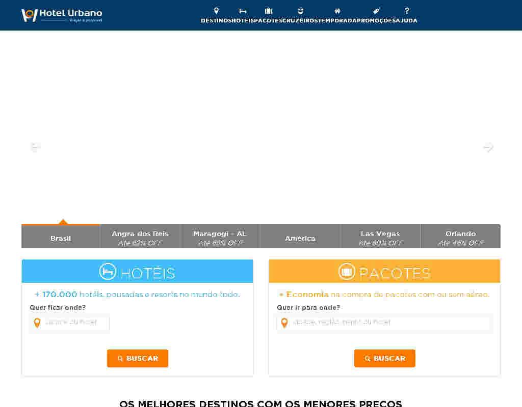 Hotel Urbano - R$100 De Desconto Nas Compras Acima De R$1000