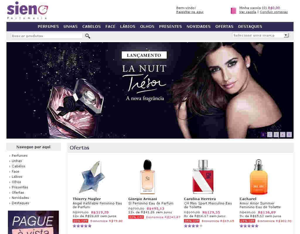 Sieno Perfumaria - 5% De Desconto Nos Melhores Perfumes