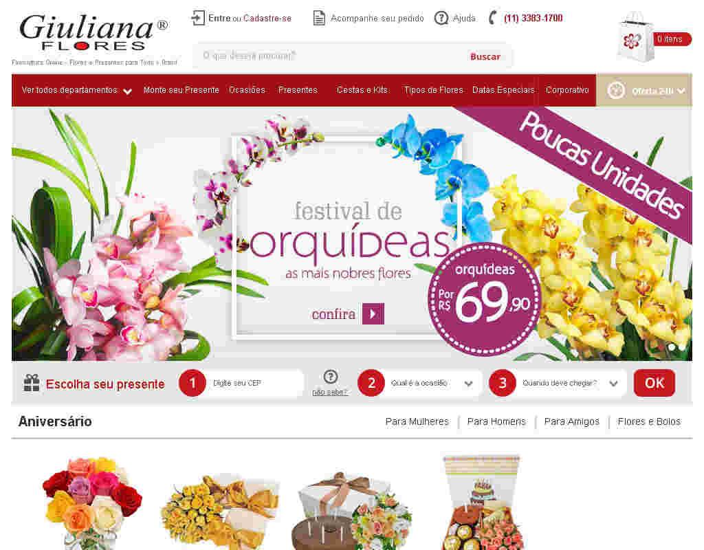 Giuliana Flores - R$15 Off Em Flores E Chocolates