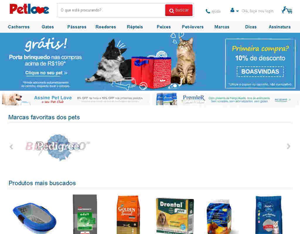 Pet Love - Brinquedos: Cupom 15% Off Na Primeira Compra