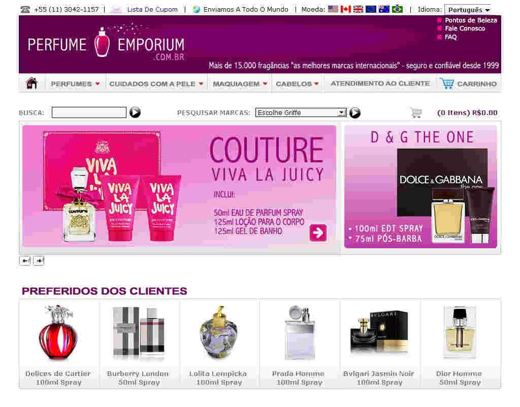 Perfume Emporium - Cupom 20% De Desconto Na