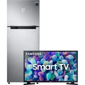 [Combo] Geladeira Samsung Duplex Rt46k6261s8 Inox 453l + Smart Tv Led 32'' Samsung 32t4300 Hd - Wifi
