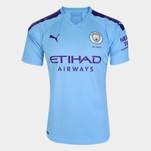 Camisa Manchester City Home 19/20 S/N° - Torcedor Puma | R$103