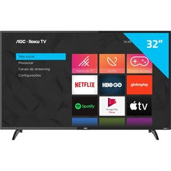 [Cc Shoptime+App] Smart Tv 32&Quot; Hd Aoc Rokutv 32s5195/78g | R$1.009