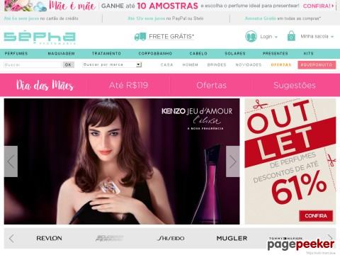 Sépha - 15% Off Nas Compras Acima De R$399 Em Perfumes