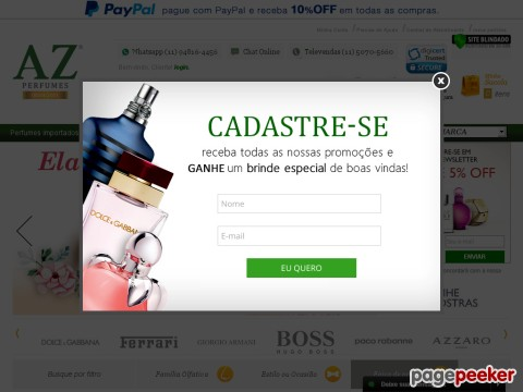 Az Perfumes - 5% Off Em Todo Site