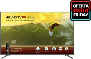 Smart Tv Led 50&Quot; 4k Tcl 50p8m Com Android Tv | R$ 1849