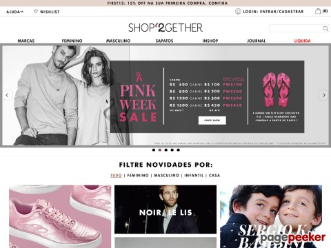 Shop2gether - 15% Off Na Primeira Compra