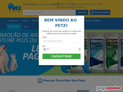 Petz - 10% Off Em Todo Site
