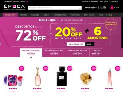 Época Cosméticos - Perfumes Com Até 72% Off + 18% Off No Cupom
