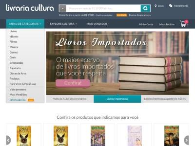 Livraria Cultura - 20% Off Em Livros Selecionados