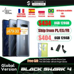 Smartphone Black Shark 4 - 6gb 128gb | R$2.461