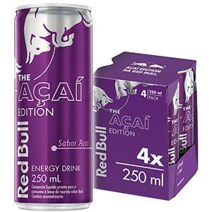 Energético Açaí Red Bull Energy Drink Pack Com 4 Latas De 250ml | R$25