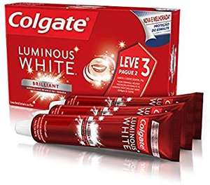 [Prime] Creme Dental Colgate Luminous White Brilliant Mint 70g | Leve 3 Pague 2 | R$8