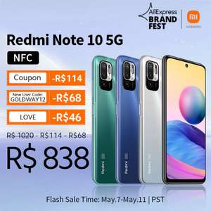 Smartphone Redmi Note 10 5g 4/64gb | R$864