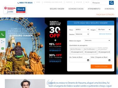 Mondial Travel - 30% Off Em Seguro Para 3 Ou Mais Viajantes