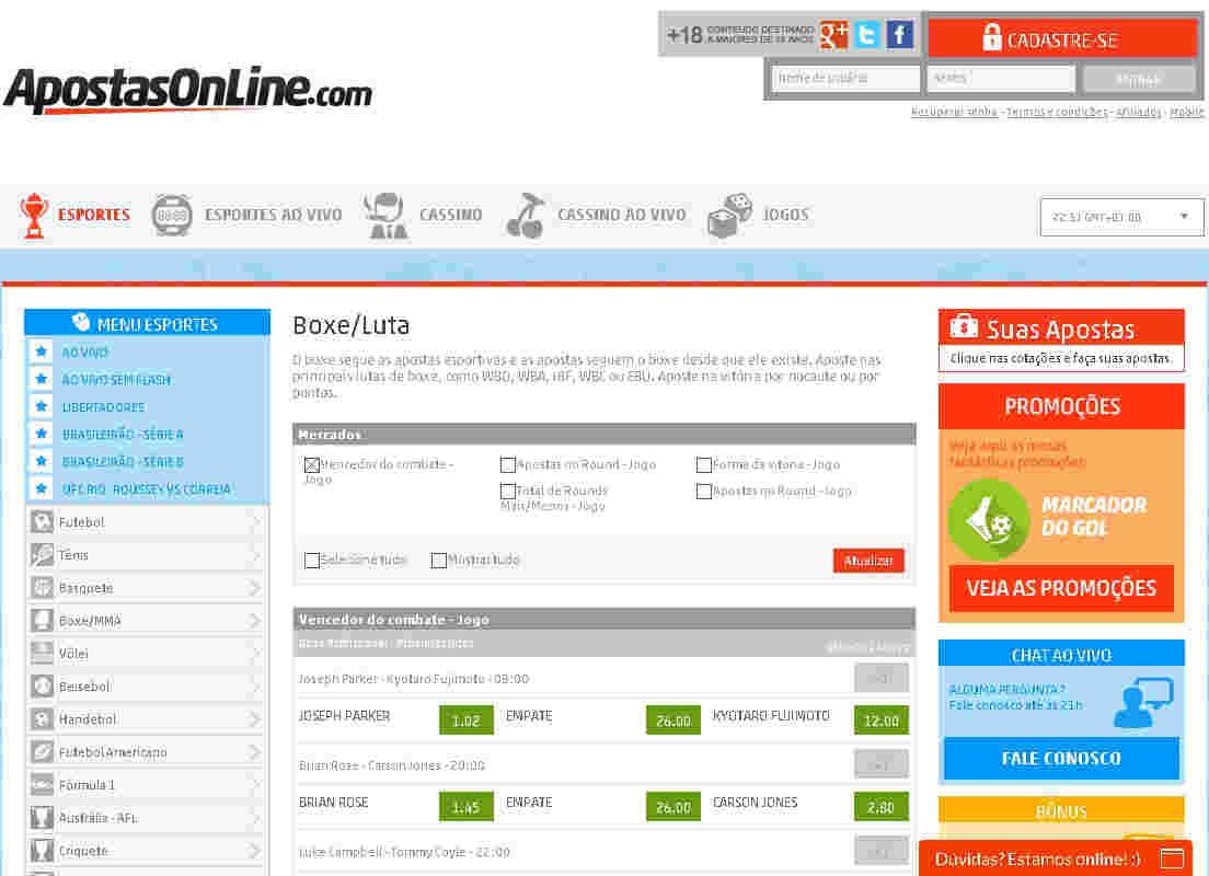 Apostas Online Lutas De Mma/ufc/boxe