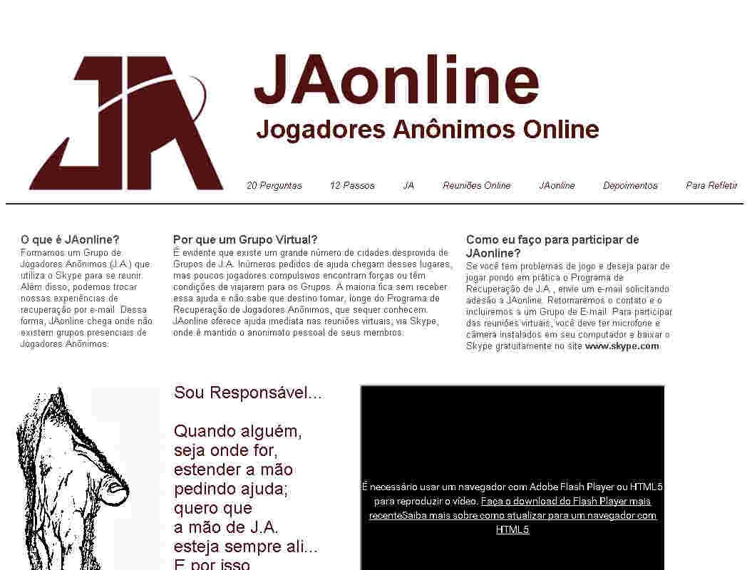Jogadores Anonimos Online