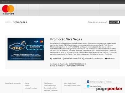 Promoção Mastercard E Porto Seguro Viva Vegas
