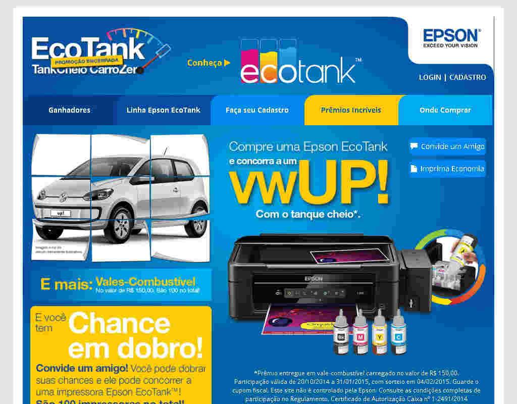 Promoção Epson Tank Cheio Carro Zero