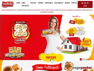 Promoção Isabela Sabor De Casa