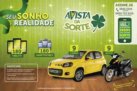 Promoção Revista Avista Da Sorte