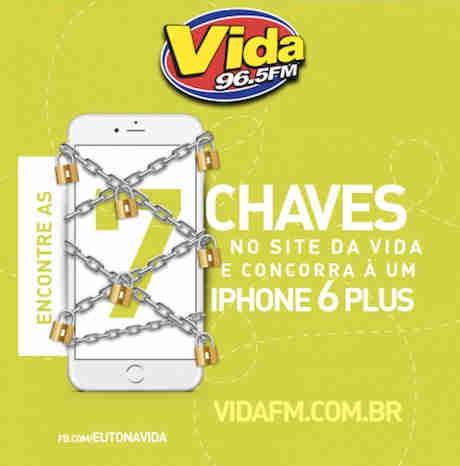 Promoção Rádio Vida Fm Iphone 6 Plus: