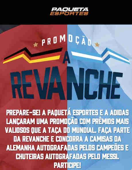 Promoção Paquetá Esportes A Revanche