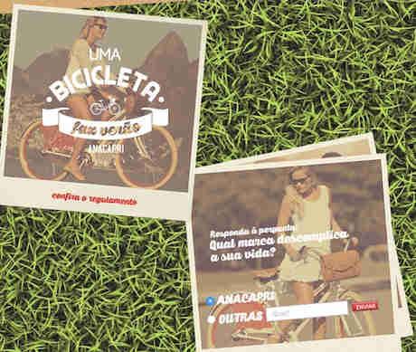 Promoção Anacapri Uma Bicicleta Faz Verão
