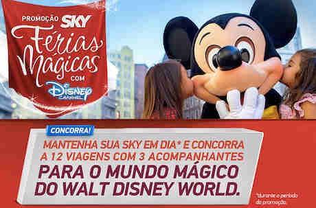 Promoção Sky Férias Mágicas Com Disney Channel